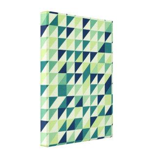 Rejilla geométrica azul y verde impresión en lona