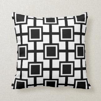 Rejilla geométrica de moda el | de los cuadrados cojín