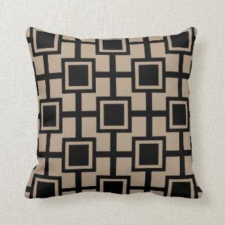 Rejilla geométrica de moda el | de los cuadrados cojin