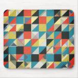 Rejilla imperfecta de colores mouse pads
