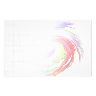 Rejilla inmóvil del remolino del color papeleria personalizada
