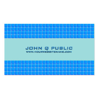 Rejilla moderna azul tarjetas de visita