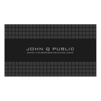 Rejilla moderna negra tarjetas de visita