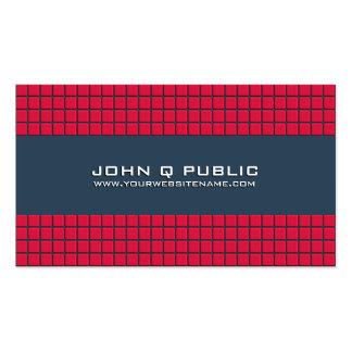 Rejilla moderna roja tarjetas de visita