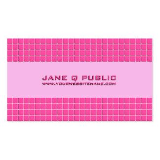 Rejilla moderna rosada tarjetas de visita