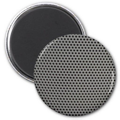 Rejilla plástica ilustrativa imán redondo 5 cm