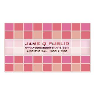 Rejilla rosada del mosaico tarjetas de visita
