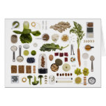 Rejilla sana de la comida en un fondo blanco tarjeta de felicitación