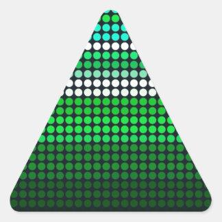 Rejilla verde del St. Patricks Pegatinas Trianguloes