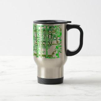 Rejilla verde taza de viaje de acero inoxidable