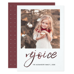 Rejoice And Be Glad Christmas Photo Card at Zazzle