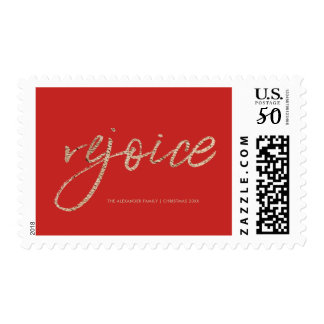 Rejoice and Be Glad Rustic Christmas Postage