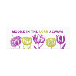 Rejoice Canvas Canvas Print