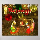 REJOICE!!  CHRISTMAS POSTER