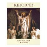 Rejoice. Customizable Easter  Church Bulletin Letterhead Template