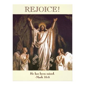 Rejoice. Customizable Easter  Church Bulletin Letterhead
