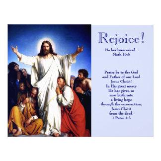 Rejoice. Customizable Easter Church Bulletins Letterhead