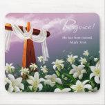 Rejoice!  Easter Gift Mousepad Mousepads