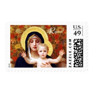 Rejoice! Fine Art Christmas Postage Stamp at Zazzle