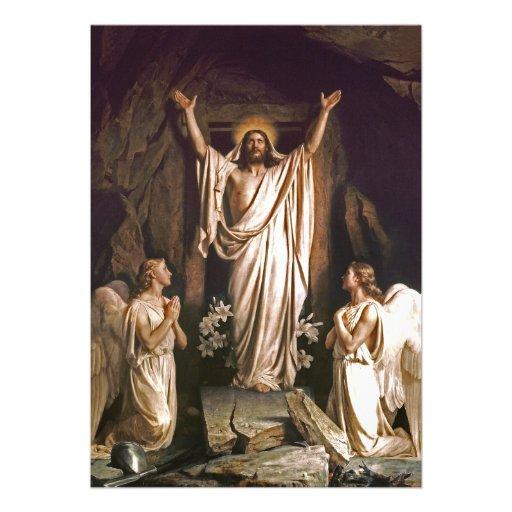 Rejoice. Fine Art Customizable Easter Card