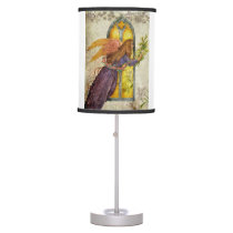 Rejoice Illustrated Angel with Lily Desk Lamp