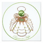Rejoice in Hope - Christmas Angel of Hope 5.25x5.25 Square Paper Invitation Card