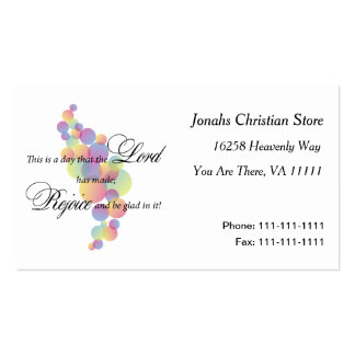 Rejoice in the Lord Double-Sided Standard Business Cards (Pack Of 100)