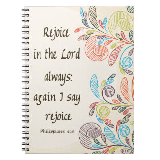 Rejoice in the Lord Notebook