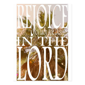 Rejoice in the Lord Postcard