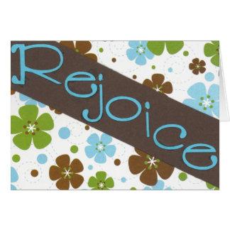 Rejoice notecard stationery note card