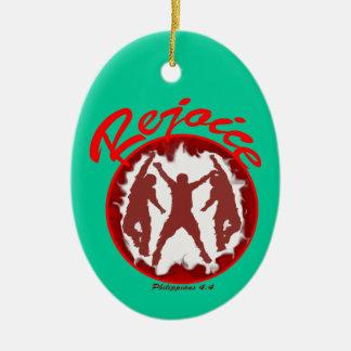 Rejoice - Philippians 4 4 Christmas Ornaments