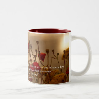 REJOICE Poem & Floral Design Mug