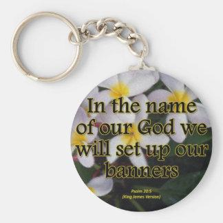 Rejoice Psalm 20-4 Condensed Keychain