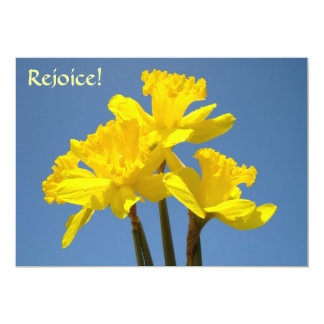 Rejoice! Spring Daffodil Invitations Events Easter