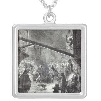 Rejoicings in London Square Pendant Necklace
