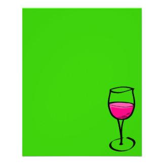 "rel de cristal del gusto del restaurante del rosa folleto 4.5"" x 5.6"""