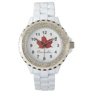 Rel Maple Canadian fall leaf Wrist Watch