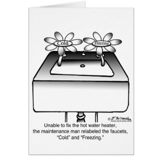 Relabel Faucets Cold & Freezing Greeting Card