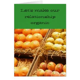 Relación/datación - hagamos nuestra relación tarjeta de felicitación