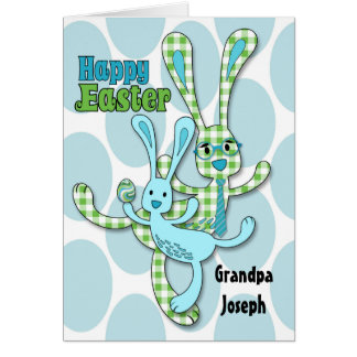 Relación de encargo Pascua en verde y azul Tarjeta De Felicitación