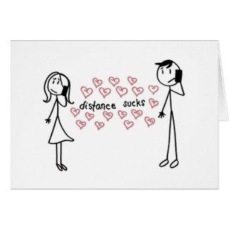 Relación de larga distancia tarjeta de felicitación