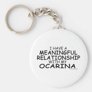 Relación significativa Ocarina Llavero Personalizado
