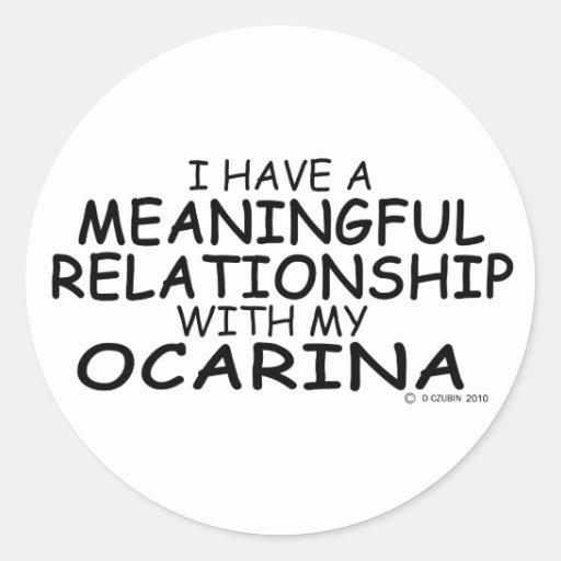 Relación significativa Ocarina Pegatina Redonda