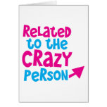 Relacionado con la persona loca felicitación