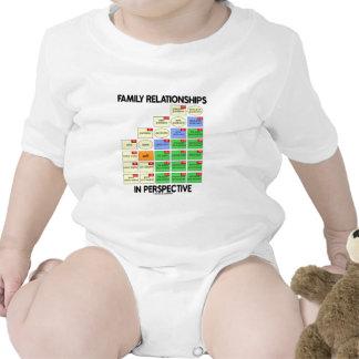Relaciones de familia en la perspectiva (reunión) trajes de bebé
