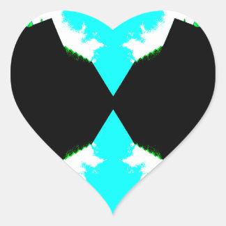 Relaciones espaciales - CricketDiane Arting Pegatina En Forma De Corazón