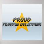 Relaciones exteriores orgullosas impresiones