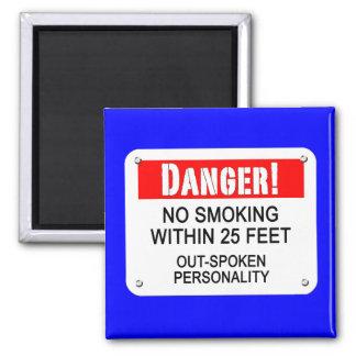 Relaciones, hábitos, de no fumadores imán cuadrado
