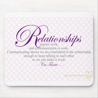 Relaciones y comunicación tapete de ratones