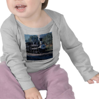 Relais del río de la pluma, locomotora de Shay Camiseta